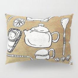 Chinese Tea Doodle 1 Pillow Sham