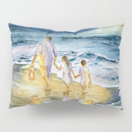 Summer Vacation Memory Pillow Sham