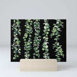 Eucalyptus Sur Fond Noir Mini Art Print