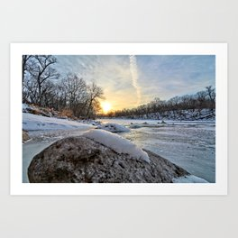 Down the Frozen River 2 Art Print