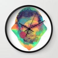 leonardo dicaprio Wall Clocks featuring Leonardo Dicaprio by Rene Alberto