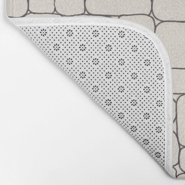 Stone Wall Drawing #3 Bath Mat