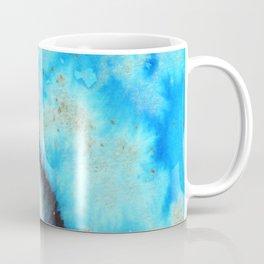 Blue and Gold Flecked Coffee Mug