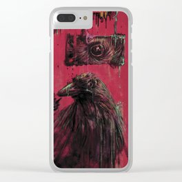 Edgar Allan Poe (Nevermore) Clear iPhone Case