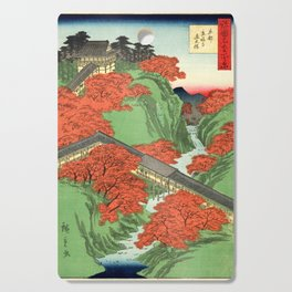 Hiroshige Temple & Mountains Cutting Board