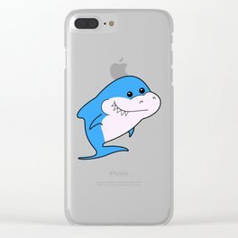 Baby shark birthday. Brother shark. Baby shark party. Blue shark. Shark boy Clear iPhone Case