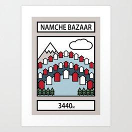 Namche Bazaar Art Print