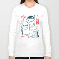 cook Long Sleeve T-shirts featuring Cook! by Bethany Thompson