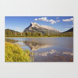 Vermilion Lakes and Mount Rundle, Banff National Park, Canada Canvas Print