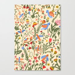 Tropical Garden Pattern Canvas Print