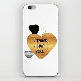 I Think I Like You Golden Heart iPhone Skin