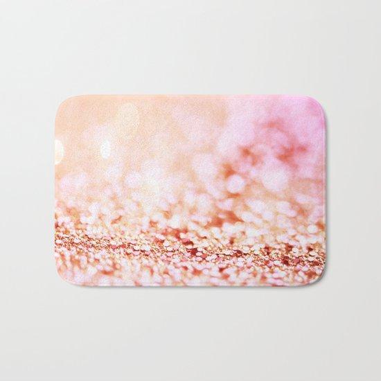 Pink shiny glitter - Sparkle Girly Valentine Backdrop on #Society6 Bath Mat
