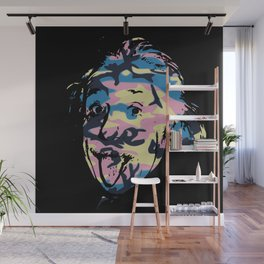 Famous people in disguise art print Wall Mural