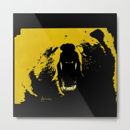 "TygerB.com ""Heated Grizzle"" Painting Metal Print"
