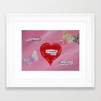 scripture Framed Art Prints featuring Scripture Heart~1 by J.D. Fields