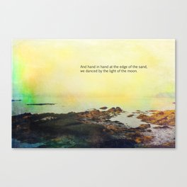 At the Edge of the Sea Canvas Print
