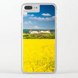 Rape flower field in Transylvania Clear iPhone Case