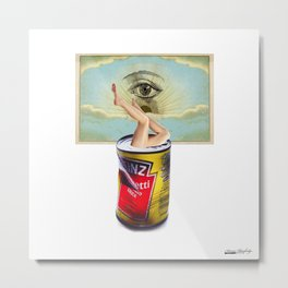 I want to hiding Metal Print