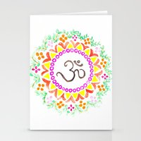 ohm Stationery Cards featuring Ohm / OM  by HollyJonesEcu