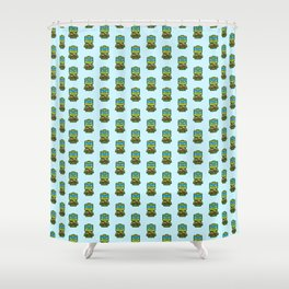 Chibi Leonardo Ninja Turtle Shower Curtain