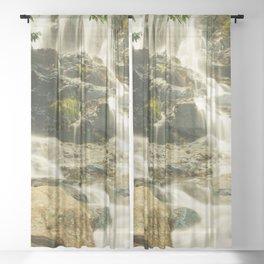 Silky Cascading Waterfall Hong Kong Sheer Curtain