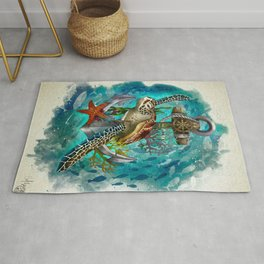 Turtle and Sea Rug
