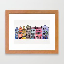 Rainbow Row – Charleston Framed Art Print