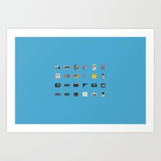 8-BIT Retro Console & Game Art Print