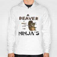 beaver Hoodies featuring Beaver by Derek Donovan