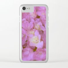 Pink Hydrangea Clear iPhone Case