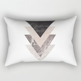 Geometric Shapes. Marble Triangles. Rectangular Pillow