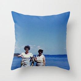 Fishing Ladies Throw Pillow