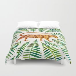 Jaguar – Green Leaves Duvet Cover
