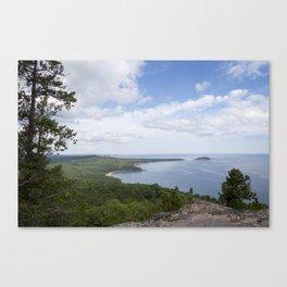 Lake Superior and Little Presque Isle Canvas Print