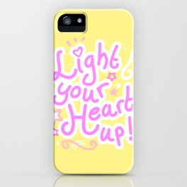 Light your heart up! iPhone Case