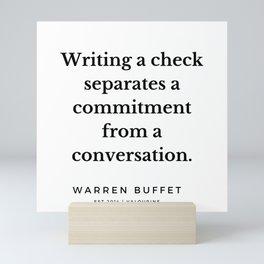 41    Warren Buffett Quotes   190823 Mini Art Print