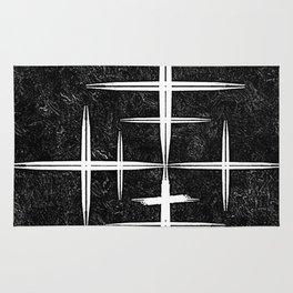 Black and White Hop Scotch Cris Cross Rug