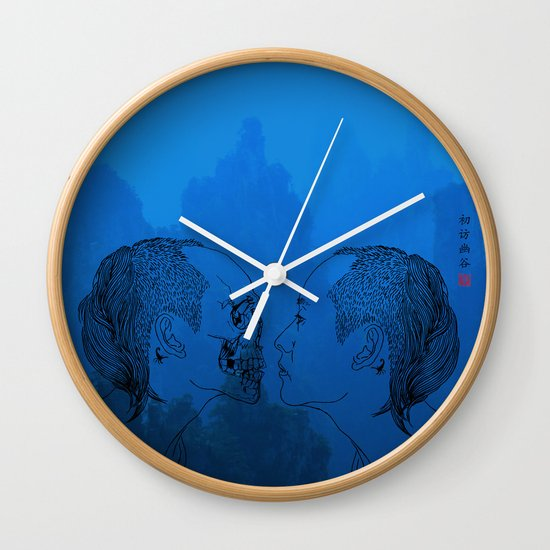 Self portrait-Another View Wall Clock