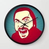 scream Wall Clocks featuring Scream by FalcaoLucas