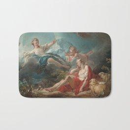 Diana and Endymion Oil Painting by Jean-Honoré Fragonard Bath Mat