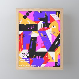 Multi-dimensional city Framed Mini Art Print