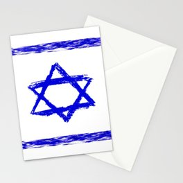 flag of israel 8-יִשְׂרָאֵל ,israeli,Herzl,Jerusalem,Hebrew,Judaism,jew,David,Salomon. Stationery Cards