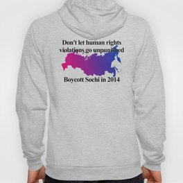 Boycott Sochi - Bisexual Flag Gradient Hoody