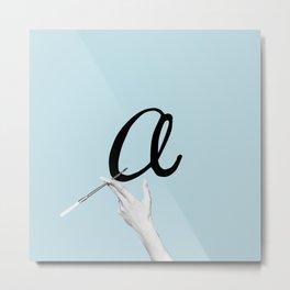 a - Audrey Blue Metal Print