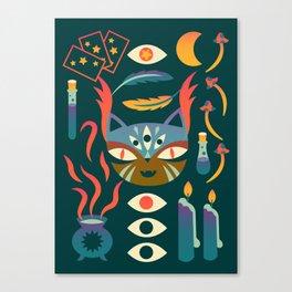 Magic Cat Art Canvas Print