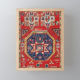 Aksaray Cappadocian Central Anatolian Rug Print Framed Mini Art Print