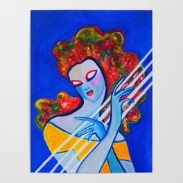 Siren's Harp #society6   #decor   #buyart Poster