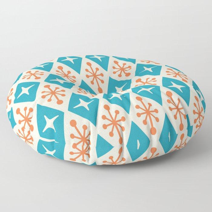 Mid Century Modern Atomic Triangle Pattern 107 Floor Pillow