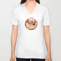 theatre V-neck T-shirts featuring Theatre by Vargamari