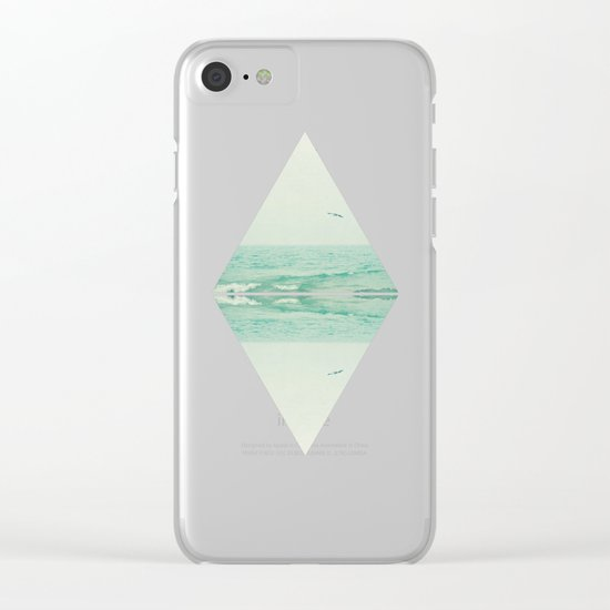 Parallel Waves Clear iPhone Case